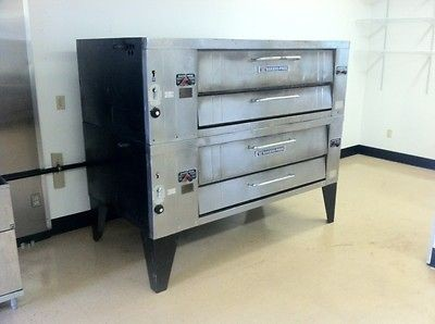 Bakers Pride Y600 Y602 Stone Double Deck Pizza Ovens