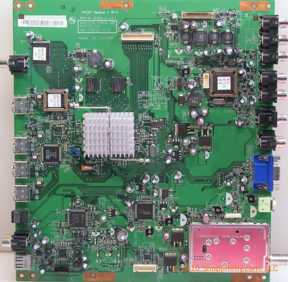 Westinghouse 5570e01021g Main Board 07275 1a 4870e0101a For Vk Toshiba 22cv100u Wiring Diagram