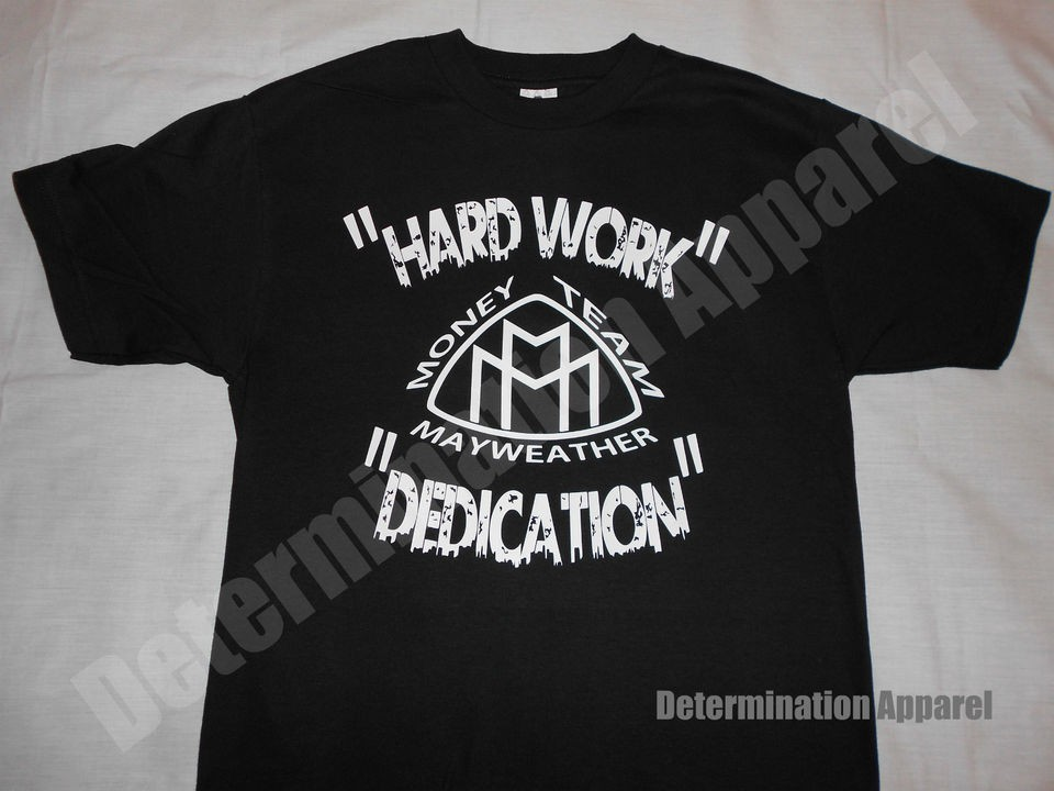 Shirt HARD WORK & DEDICATION Money Team Boxing HBO 24/7  B