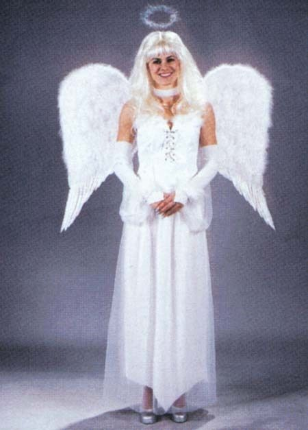 LARGE FEATHER ANGEL WINGS WHITE OR BLACK COSTUMES COSPLAY CHURCH