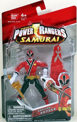 POWER RANGERS SAMURAI 4 RANGER FIRE Figure #31509 NIP RED MIGHTY