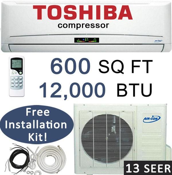 12,000 BTU Ductless Mini Split Air Conditioner Heat Pump 1 Ton  25