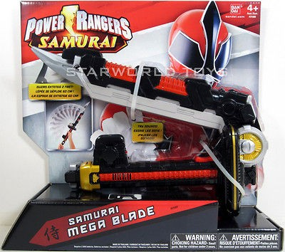 POWER RANGERS SAMURAI MEGA BLADE FIRE RED 31600 NIP MIGHTY MORPHIN NEW