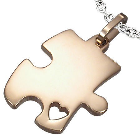 Puzzle Piece Autism Stainless Steel Pendant Necklace 6