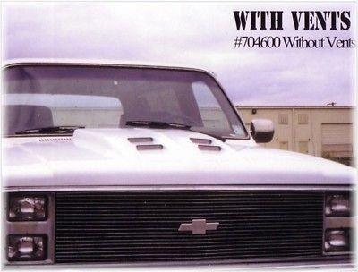 81 87 CHEVY/GMC TRUCK STEEL RAM AIR COWL INDUCTION HOOD