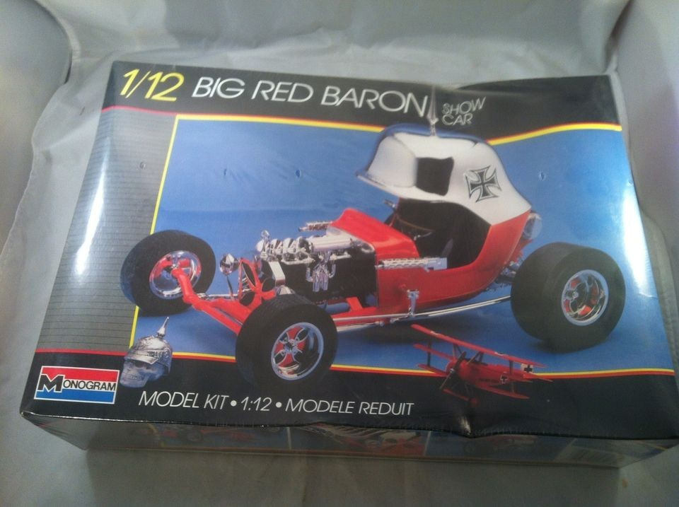 Classic 1/12 Monogram BIG RED BARON show car plastic model kit