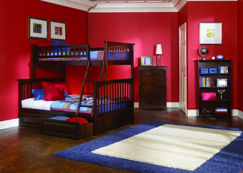 bunk bed set twin over full w