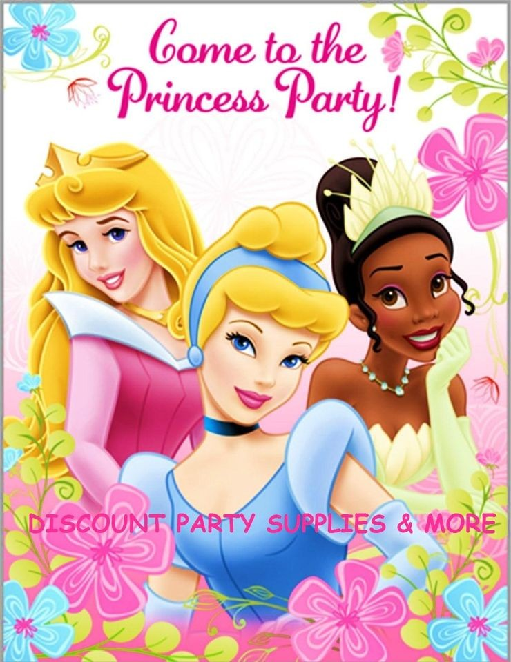 Disney Princess Fanciful Princess Birthday Party Invitations