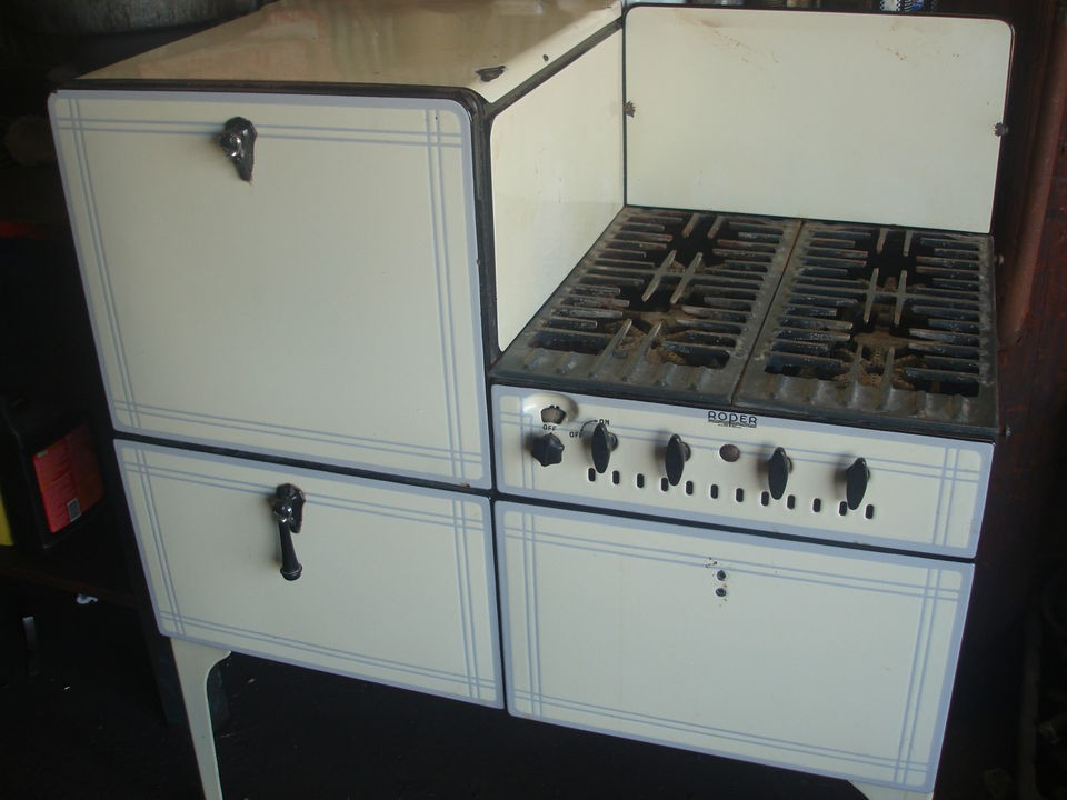 VINTAGE ROPER GAS STOVE WITH OVEN 1930S GAS STOVE