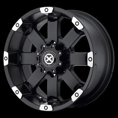 17 Inch Black Wheels Rims Chevy Truck GMC Dodge RAM 2500 3500 8 Lug