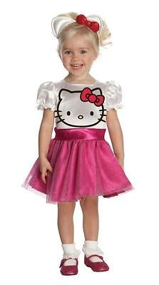 NEW HELLO KITTY Girls Dress Up Tu Costume Toddler 2 4 4T Pink Child