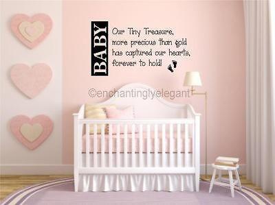 Treasure Nursery Room Decor Vinyl Decal Wall Sticker Words Letters