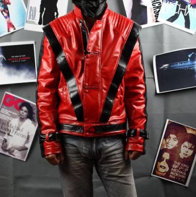 Michael Jackson Thriller Leather Red Jacket Free Billie Jean