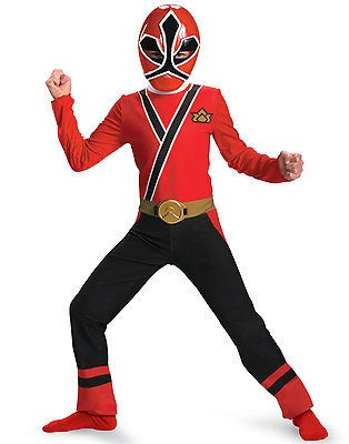 Power Rangers Samurai RED Ranger Costume M 7 8 Boys Child Kids