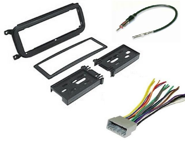 Dodge Jeep Radio Installation Dash Kit + Harness + Antenna PKG200