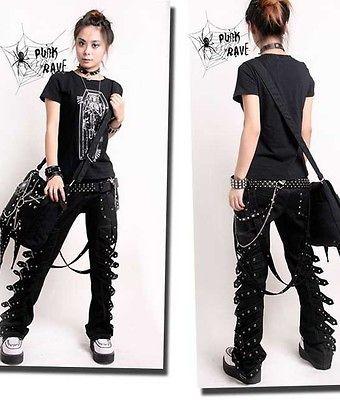 VISUAL KEI PUNK rave rock cool gothic Japan Kera NANA COOL Pants
