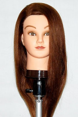 Mannequin Head 100% HUMAN Hair ~ FOR CUT, COLOR , CURL, UPDO