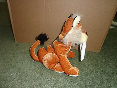 SABER TOOTH TIGER Stuffed Plush B.J. Toy Co. from Animal Kingdom Park
