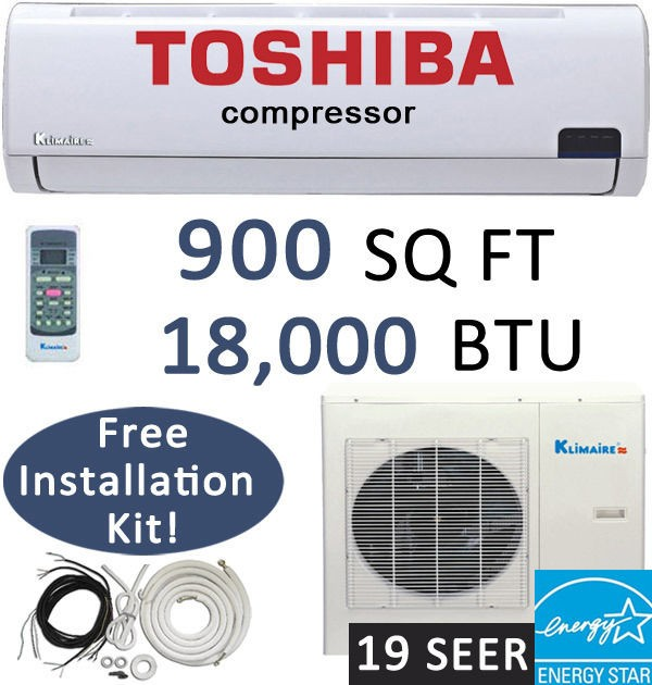18000 BTU Energy Star Mini Ductless Split Air Conditioner  18,000 BTU