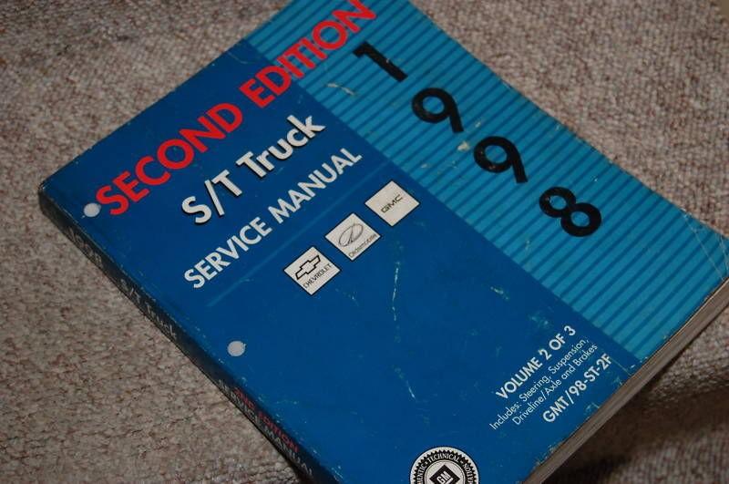 1998 Chevy Truck Blazer GMC Envoy ST S/T Service Manual 2 of 3 Cheap