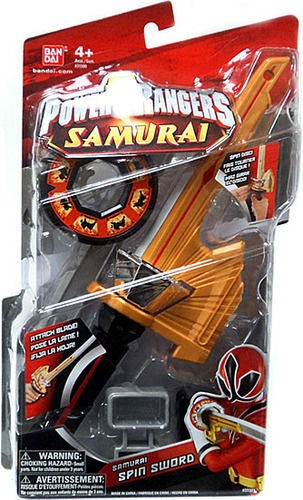 NEW POWER RANGERS SAMURAI SPIN SWORD COSTUME BANDAI ACTION FIGURES