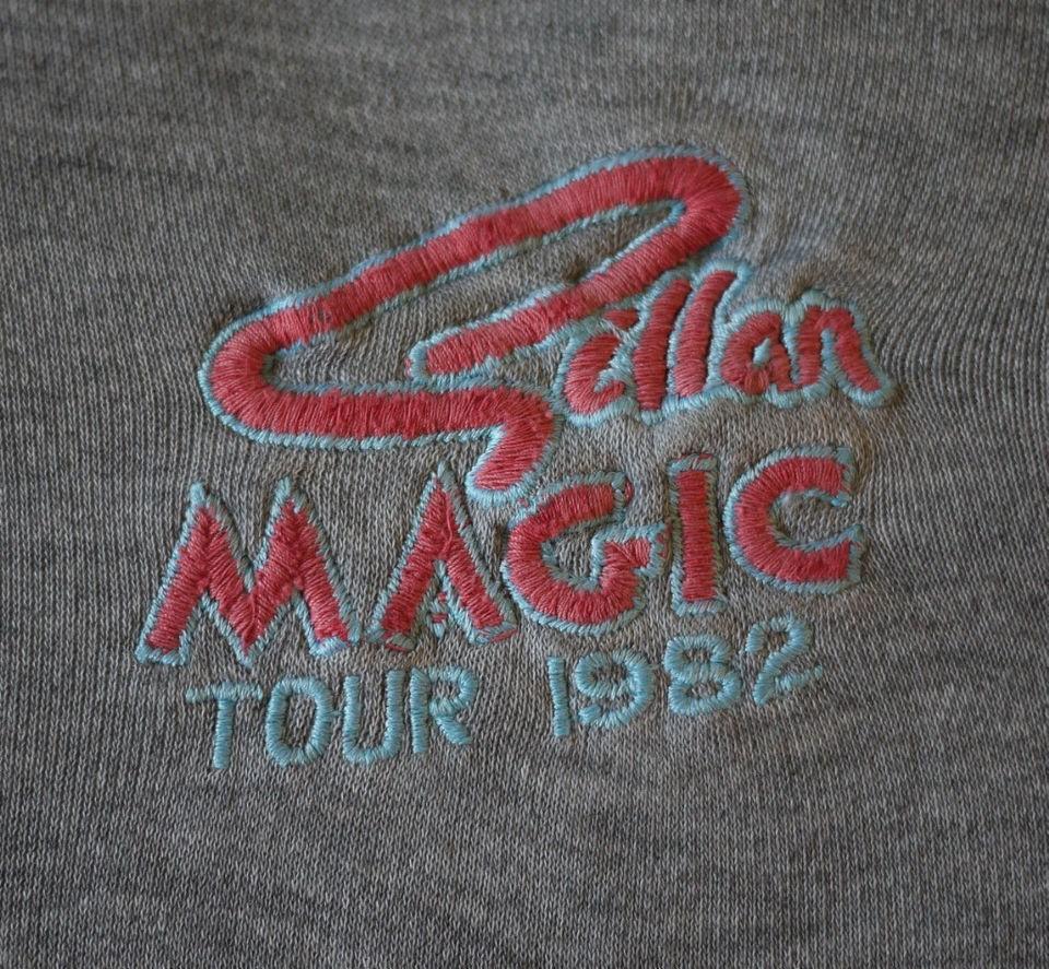 GILLAN Vintage 1982 Tour Sweat Shirt   DEEP PURPLE BLACK SABBATH Metal