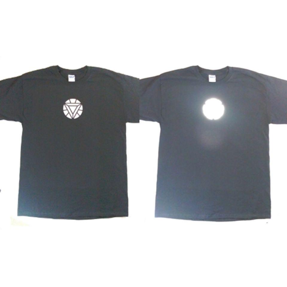 Iron Man 2 Mark VI Arc Reactor Type T Shirt   Reflective Glowing Arc
