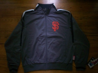 SAN FRANCISCO GIANTS NEW MLB MAJESTIC AUTHENTIC TRACK JACKET