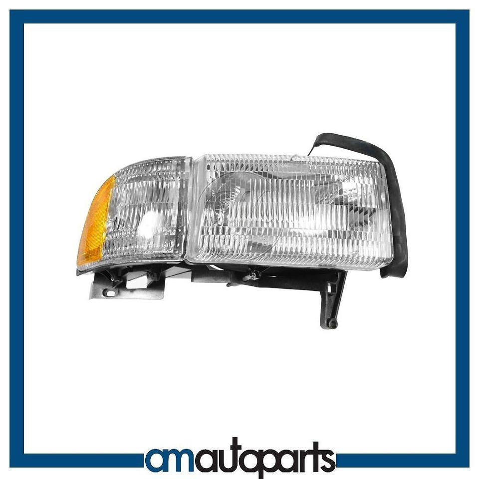 dodge ram pickup truck headlight headlamp w corner light passenger