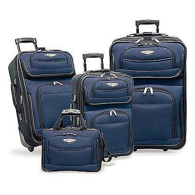 traveler s choice amsterdam 4 piece luggage set navy  89 99