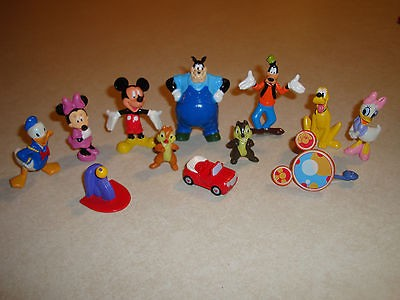 Disney Mickey Mouse Clubhouse Figure Figurine Playset w/Book, 12 Cake