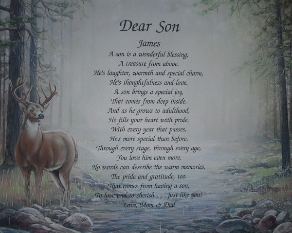 PERSONALIZED POEM BIRTHDAY, FATHERS DAY OR CHRISTMAS GIFT DEER PRINT