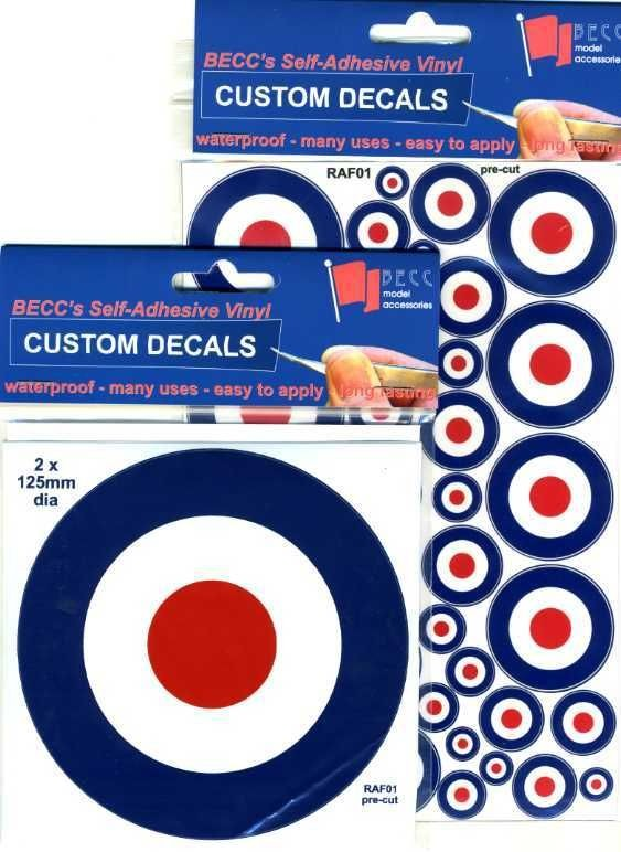 royal air force roundels model decal sticker raf01 more options
