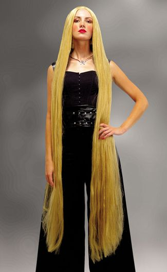 Foot Long Blonde Rapunzel Wig (60 inch), Godiva Cousin IT