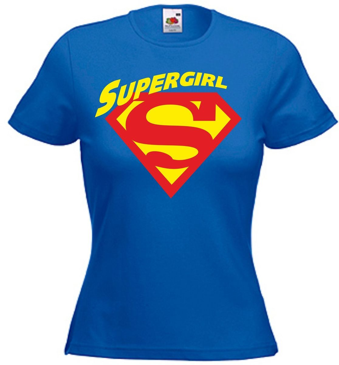 superman supergirl t shirt lady fit xs s m l xl f r damen. Black Bedroom Furniture Sets. Home Design Ideas