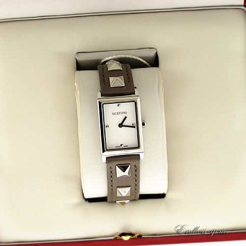 Valentino Rock Stud Collection Ladies Watch V59SBQ9901 Leather SS V59