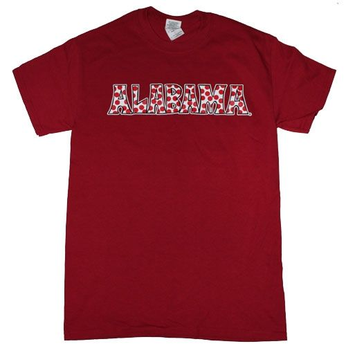 Alabama Crimson Tide Football T Shirts Bama Girls Roll Tide Yall Color
