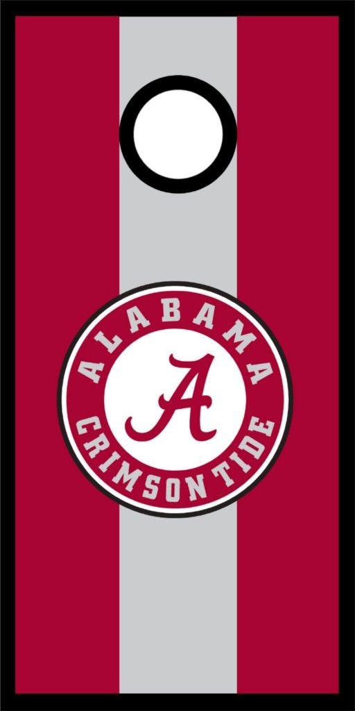 Alabama Crimson Tide Cornhole Game Decal Set