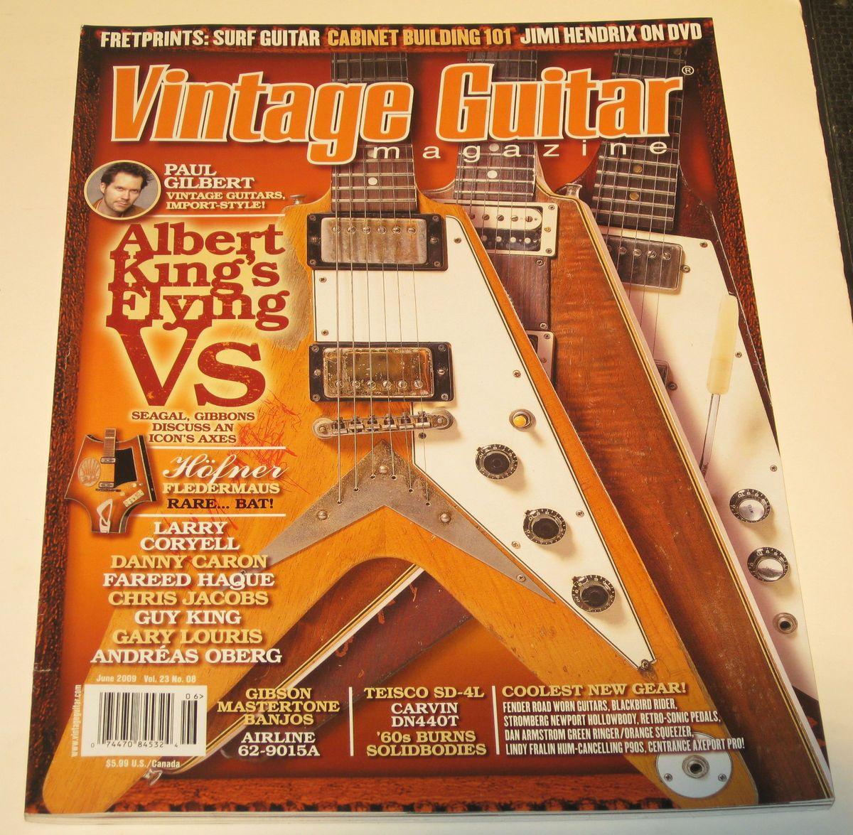 Vintage Guitar Albert King Airline Gibson Mastertone Paul Gilbert