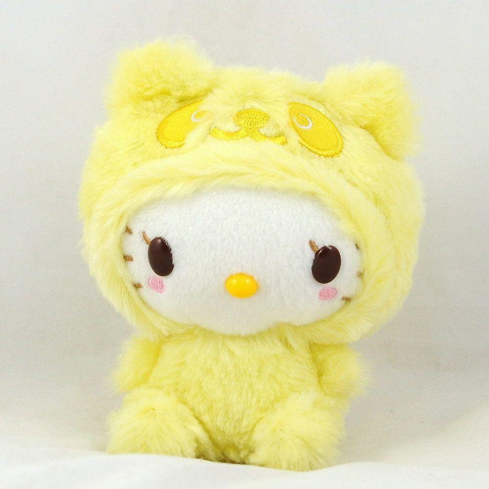 Sanrio Panda Hello Kitty Plush Stuffed Toy Yellow 5 5 14cm