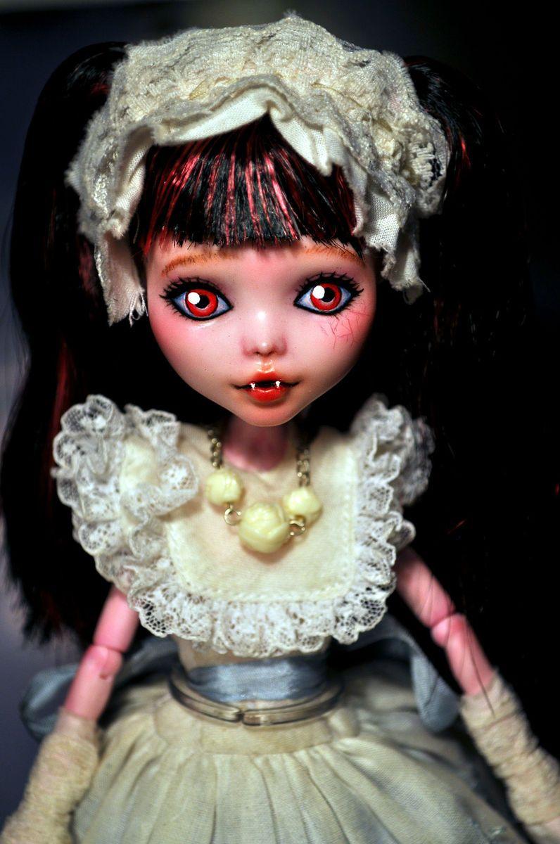 Annabel Lee OOAK CUSTOM Monster High Draculaura Doll Repaint handmade