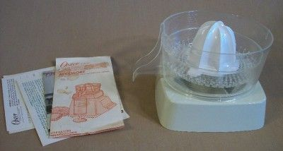 Oster Regency Kitchen Center Citrus Juicer Accessory Almond 952 06
