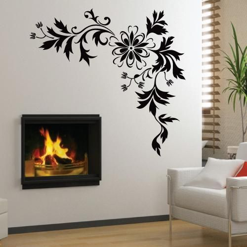 Large Stylish Flower Mural Art Wall Stickers Vinyl Decal Home Room