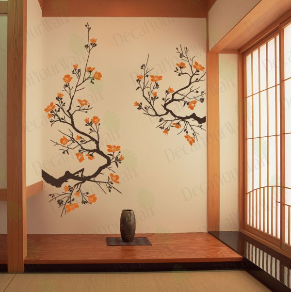 Large Cherry Blossom Tree Wall Art Decal Vinyl Sticker