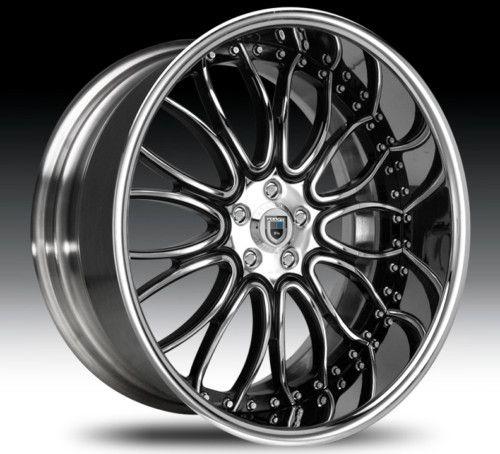 20 asanti AF145 Black Chrome Wheels Rims 2 Piece Tone