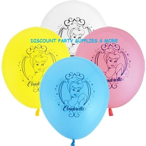 Disney Princess Cinderella Birthday Latex Balloons