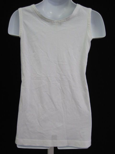 Garnet Hill Girls White Sleeveless Shirt Top Size M