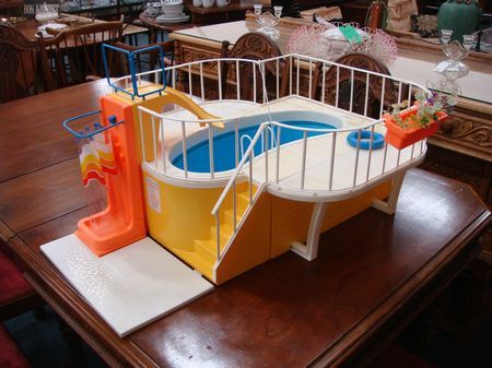 vintage barbie dream house swimming pool 1980 toy toys doll dolls play ForBarbie Doll House With Swimming Pool