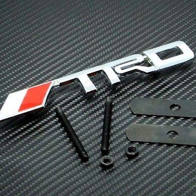 toyota trd front grille emblem brand new usa seller time