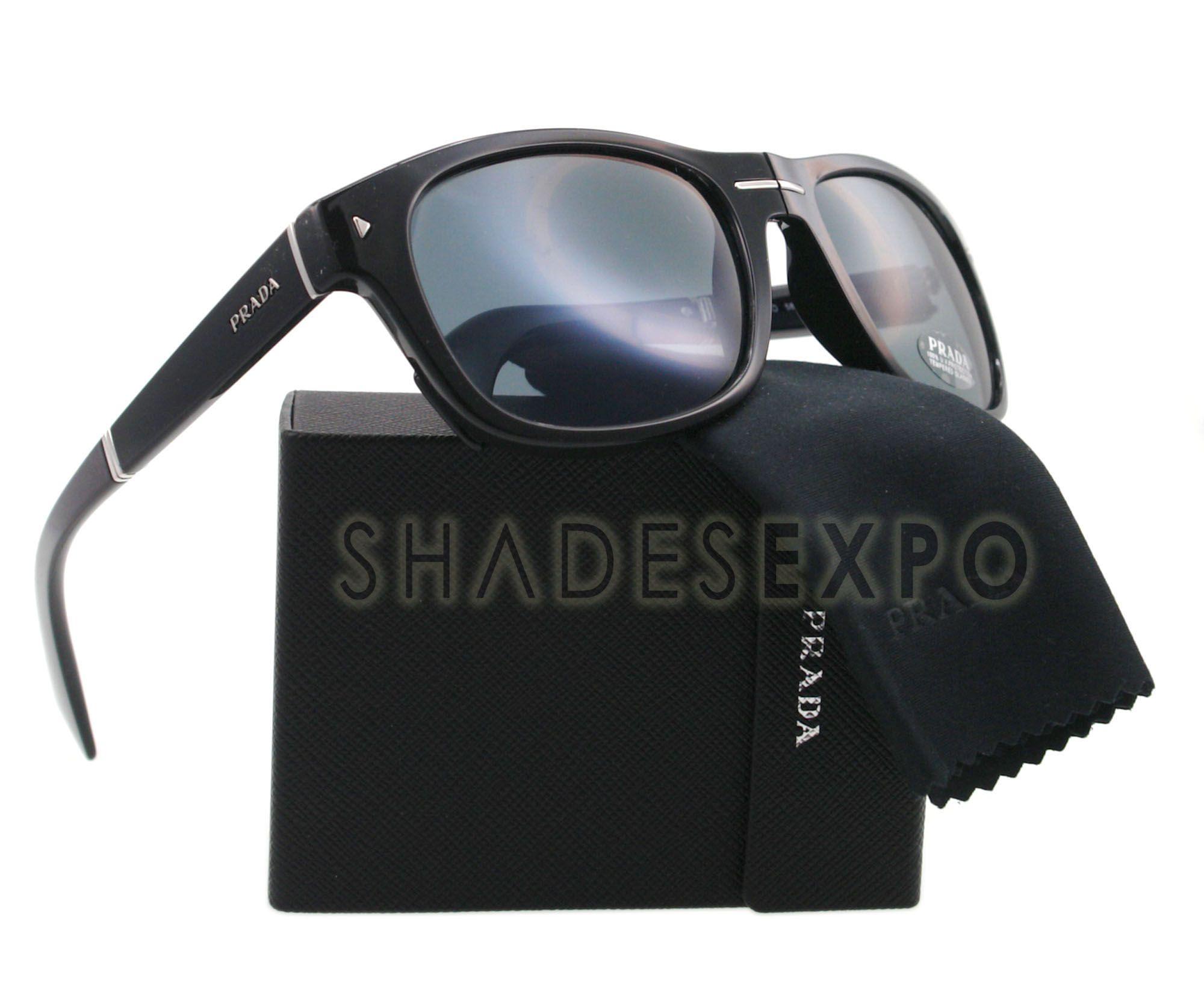 New Prada Sunglasses SPR 13O Black 1AB 0A9 SPR13O Auth